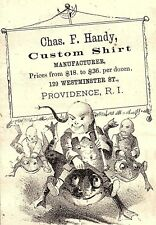 1880's Chinese Boys Riding Giant Frogs Chas. F. Handy China Trade Card P4