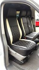 Volkswagen VW Transporter T5 Genuine Fit Van Seat Covers Black+Cream Diamonds