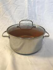 """NuWave Ultimate Gold Stainless 10"""" Stock pot with Lid Cookware 5.5 quart"""