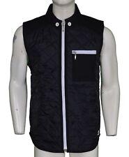 ID Denim Jordan Black Flint Quilted Gilet Jacket Size Medium