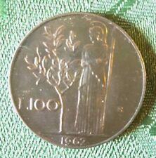 MONETE REPUBBLICA ITALIANA 100 LIRE MINERVA 1962 DA ROTOLINO QUASI FDC  8/17
