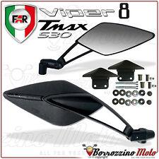 COPPIA SPECCHIETTI RETROVISORI DA MANUBRIO FAR VIPER 8 PER YAMAHA T-MAX TMAX 530