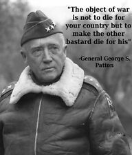 4 Star General George S Patton U.S. Army Military Oath 8.5x11 Photo