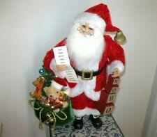 "Karen Didion, ""Hoho Santa w/ tree that lights , w/ Original Box, Bag of toys"