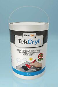 5y GUARANTEE TekCryl Acrylic Roofing waterproofing Roof Repair Fibre Reinforced