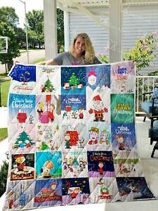 A Charlie Brown Christmas Quilt Blanket, Fleece Blanket