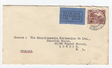South Africa Port Elizabeth 1932 Air Mail 4d Cover to London Per Lugpos