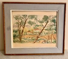 """Aquarelle """" paysage """" signée ANDRÉ MARCHAND"""