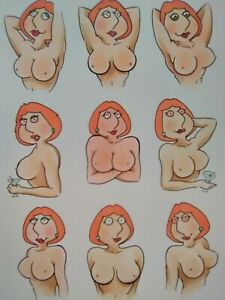 Lois Griffin SEXY 9-Card SET comic art cartoon LOT drawing ACEO hot pinup