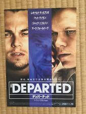 LEONARDO DICAPRIO THE DEPARTED 2006 JAPAN MINT CONDITION MOVIE THEATRE FLYER