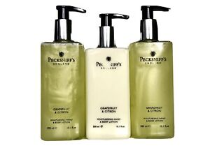 3 X Pecksniff's Hand wash And Hand Lotion Scent Grapefruit 3x300ml Scuffed Print