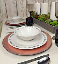 6 X Rose Gold Round Charger Plates Centrepiece Tableware Under Settings Place