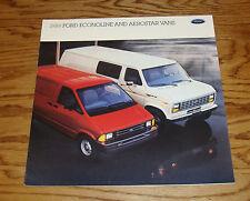 Original 1989 Ford Econoline & Aerostar Van Sales Brochure 89