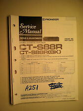 Pioneer ct-s88r service manual original repair book stereo tape player