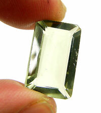 9.60 Ct Natural Green Amethyst Loose Emerald Cut Gemstone Stone - 13498