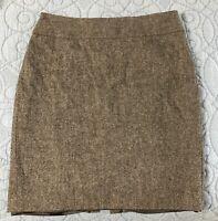 CABI #245 Sz 12 Gray Wool Blend Straight Pencil Tweed Career Skirt lined EUC