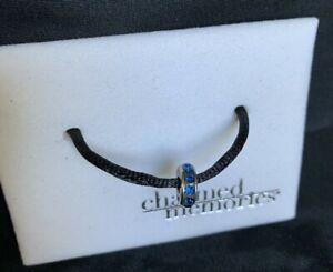 Kay Jewelers Charmed Memories Charm Bead Blue Swarovski Crystals & Sterling