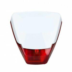 Pyronix Deltabell Intruder Burglar Alarm System Bell Box Live External Siren RED