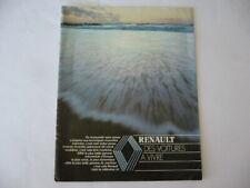 Catalogue brochure publicite prospectus RENAULT GAMME 1987