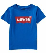 Levi's Little Boys Short-Sleeve Graphic Blue Tee - Size 6(M) - NWT - MSRP$17.00