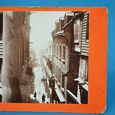 1870s Canadian Scenery Stereoview Quebec Champlain Street By L P Vallee