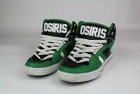 Osiris Shoes NYC 83 VLC High Top Mens Size 9.5 Green/Wht Black Trashed Vintage