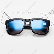 Short sighted Sunglasses-1.0 to -4.0 Myopia Blue Lens Black Frames UV400 Protect