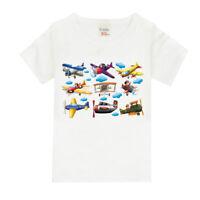 Summer Cotton Baby Kids Boys Top Short-Sleeve Caroon Airplane T-Shirt Children
