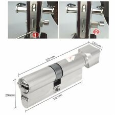 70mm Sliding Security Screen Home Door Lock Cylinder Thumb Turn Hardware +3 Key