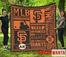 San Francisco Giants Quilt Blanket Special Fan Gift Idea