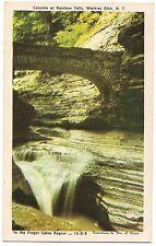 CASCADE RAINBOW FALLS  Watkins Glen State Park NY Postcard Vintage Finger Lakes