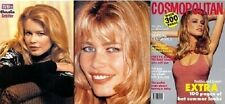 Claudia Schiffer Import rare Magazine clippings set Fashion Model Celebrity