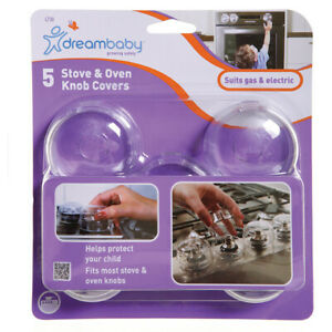 DREAM BABY STOVE KNOB COVERS PACK OF  5 CLEAR L730