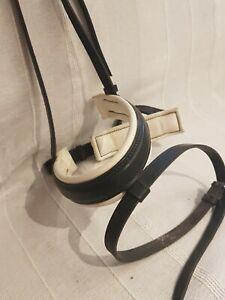 Stubben Black with White Padded Flash  Crank Noseband Full Size
