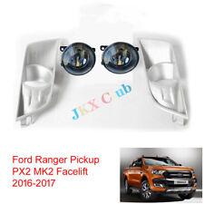 For Ford Ranger Pickup PX2 MK2 Facelift 15-17 LED Bulb Fog Light j Chrome Bezel