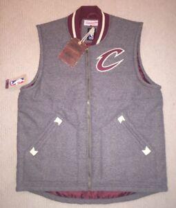 Mitchell & Ness Cleveland Cavaliers Cavs Jacket Vest Sleeveless Wool Varsity Med
