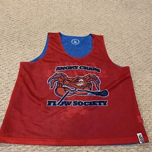 Angry Crabs Flow Society Reversible Lacrosse Jersey Lax Mens Small/Medium