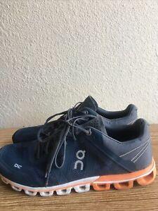 ON Cloud Cloudflow Men's Shoes Color Rock/Orange Sz 9  Pre-Owned Condition