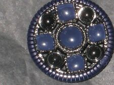 CHANEL 1  NAVY BLUE BLACK BUTTON CC LOGO NEW RARE 19 mm  / AROUND 3/4''