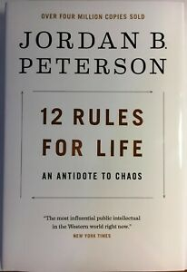 JORDAN B. PETERSON SIGNED 12 RULES FOR LIFE AUTOGRAPHED