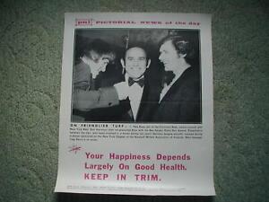 1974 Pictorial News of the Day Pete Rose Yogi Berra Harrelson Advertising Poster