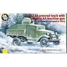Military Wheels 7244 Armoured truck GAZ-AA with Maxim AA gun WWII 1/72 scale kit