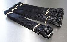 4-pack of 1.5m TOUGH Ladderloc Buckle Straps Black - Ladderlock, Luggage Tiedown