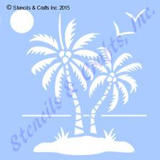 "PALM STENCIL STENCILS OCEAN SUN SEA BIRDS BEACH TEMPLATE CRAFT NEW 12"" X 12"""