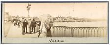 Suisse, Lucerne Vintage print.  Tirage citrate  5X16  Circa 1900