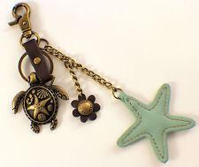 Chala Sea Turtle & Starfish Charming Key Chain Purse Bag Fob Charm