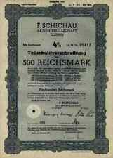 F. Schichau AG Elbing Elblag 1943 Bremerhaven Danzig Weser Werft 500 RM - Lit. H