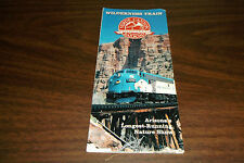 VERDE CANYON RAILROAD WILDERNESS TRAIN TIMETABLE