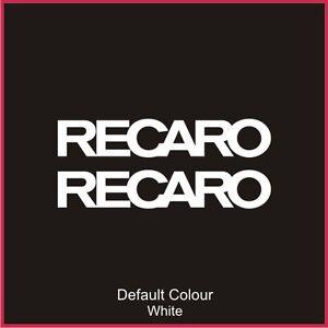 Recaro Decals x2, Vinyl, Sticker, Graphics,Car, Brakes, Racing, Stack, N2075