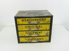 Vintage Weatherhead Original Fittings Equipment Metal Storage Organizer Cabinet